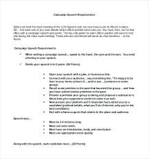 Campaign Speech Example Template Extraordinary Printable Campaign Speech Template Schedule Agenda Example