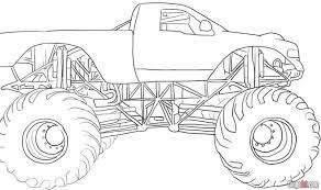 Grave Digger Monster Truck Coloring Pages Printable Color Bros
