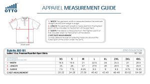 Youth Polo Shirt Size Chart Rldm