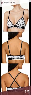 Nwt Calvin Klein Triangle Logo Bralette Size S New With Tags