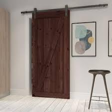 Wood interior doors Panel Farm Style Solid Wood Panelled Wood Prehung Interior Barn Door Wayfair Find The Perfect Wood Interior Doors Wayfair