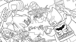 Small Picture Coloring Page Activities DC Comics Super Heroes LEGOcom