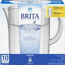 Brita water filter ad Print Amazoncom Brita Large 10 Cup Water Filter Pitcher With Standard Filter Bpa Free Everyday White Kitchen Dining Meijer Amazoncom Brita Large 10 Cup Water Filter Pitcher With Standard