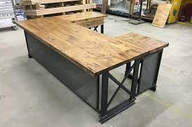 rustic office desks. U Shape Executive Carruca Office Desk | Industrial Furniture Modern Commercial Rustic Desks E