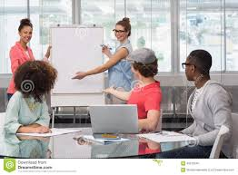 Student Presentation Fashion Student Giving A Presentation Stock Image Image Of Meeting