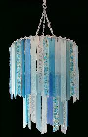 lights chandeliers in recycled glass regarding amazing blue chandelier lamp shades your house design