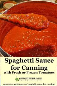 spaghetti sauce for canning made with