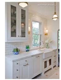 Small Kitchen With One Upper Cabinet Full Subway Tile To Ceiling