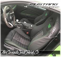 2016 ford mustang recaro leather upholstery