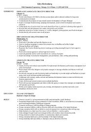Associate Creative Director Resume Samples Velvet Jobs