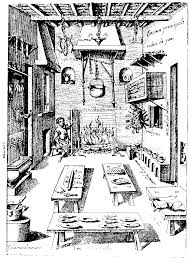 Free Coloring Page Coloring Medieval Cantine