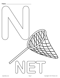 letter n alphabet coloring pages 3 free printable versions free coloring pages