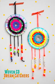Dream Catcher Party Plates Interesting Make A Woven CD Dream Catcher Pink Stripey Socks