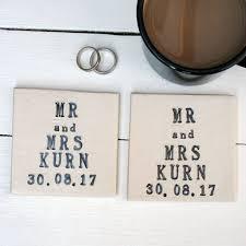 Wedding Coasters Mr And Mrs Ceramic Wedding Coasters By Juliet Reeves Designs