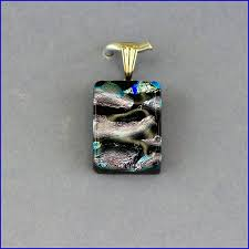 fused glass necklace dichroic glass