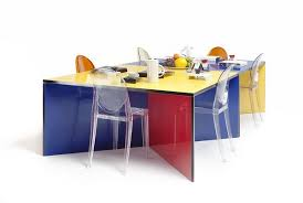 Modular And Colorful Dining Table Classy Modular Dining Room