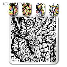 Vine Pattern Cool NICOLE DIARY Vine Pattern Stamping Template Arabesque Nail Art Stamp