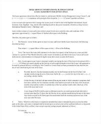 Office Space Lease Agreement Sample Commercial Simple For Contract ...