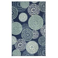 mohawk home foliage friends blue indoor area rug common 5 x 8 actual