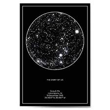 Star Chart Book Personalized Star Constellation Map Minimal Star Chart