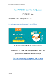 Designing Hpe Backup Solutions Hpe0 J57 Actual Exam Questions By Passquestions Issuu