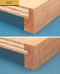 taking a wide hardwood strip and turning it on edge top photo significantly strengthens the shelf without requiring a lot of additional work