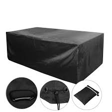 black garden furniture covers. Voilamart 170x94x71cm 6 Seater Black Outdoor Furniture Cover Patio Garden Table Chair Waterproof Shelter Covers C