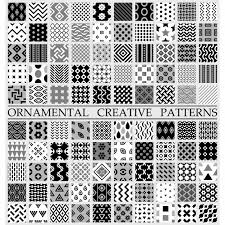 Black and white creative patterns Vector Free Download New Patterns