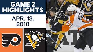 flyers vs penguins history nhl highlights flyers vs penguins game 2 apr 13 2018 youtube
