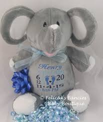 baby boy unique gifts personalized baby elephant