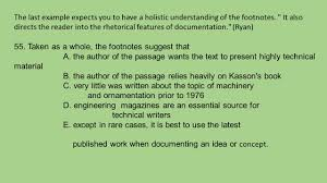 Questions On The Ap Exam Footnote What Am I Looking For Ppt Download