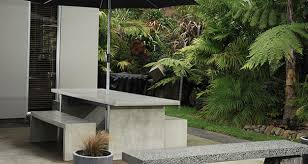 modern concrete patio furniture. Modern Concept Outdoor Concrete Furniture Patio