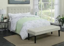 Linen Upholstered Sleigh Bed Grey Tufted Frame King Inspire Q Dark ...