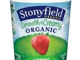 stonyfield organic smooth creamy strawberry lowfat yogurt