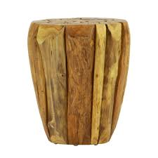lux home highland solid natural teak wood round table