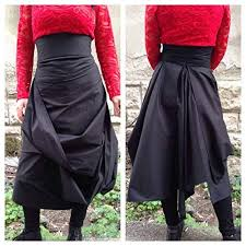 Handmade Skirt Size Chart Amazon Com Black Minimalist Boho Cotton Skirt A Line Maxi