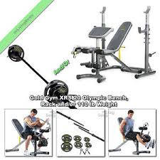 Xrs 20 Exercise Chart Details About Gold Gym Xrs 20 Olympic Weight Bench Press Lifting With Rack Or 110 Lb Weights