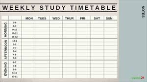 Exam Revision Timetable Template Print It Weekly Study Timetable Parent24