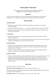 Skills Section In Resume Example Example skills based CV 17