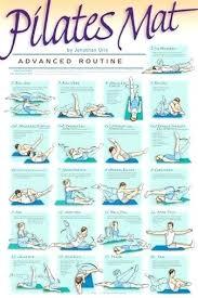 Pilates Wall Chart Mat Work Out Mat Workout Advanced Routine Professional