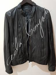 zara man genuine leather jacket jaket kulit zara hitam