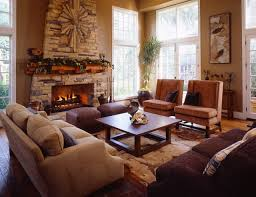 Craftsman living room idea in Los Angeles with a stone fireplace