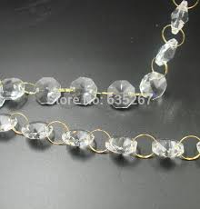 10m lot 14mm crystal glass crystal octagon beads crystal wedding garland bead strand chains free
