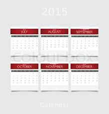 Simple 2015 Calendar Simple 2015 Year Calendar July Stock Vector Colourbox