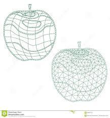 Manzanas Para Colorear Sistema De Manzanas Del Mosaico Para Colorear Y El Diseño