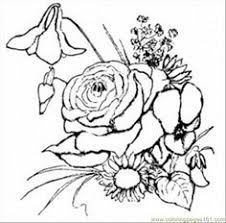 free printable coloring image rose med easter coloring pagesflower