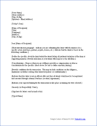 free letter of intent template sample letters of intent diy 3beb5752