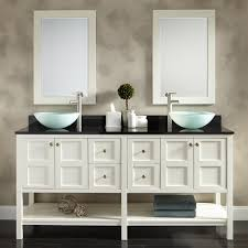 contemporary glass and metal bathroom vanity — the homy design