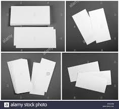 Set Of Blank White Flyers Over Gray Background Identity Design