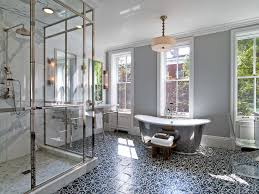 mosaic house patterned bathroom